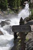 Alberta spadki, Skalistej góry park narodowy Zdjęcie Stock