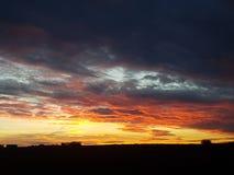 Alberta Sunset royalty-vrije stock afbeelding