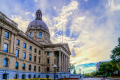 Alberta władzy ustawodawczej budynku fontanna Zdjęcie Royalty Free