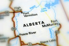 Province Alberta, Canada. Alberta, a western province of Canada selective focus Royalty Free Stock Images