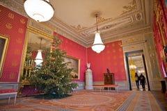 Albertina Audience Hall med julgranen Royaltyfri Foto