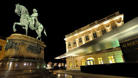 Albertina museum - Vienna Wien - Austria. Night view of Albertina museum - downtown Vienna Wien - Austria, shot on winter 2011-12 Royalty Free Stock Image