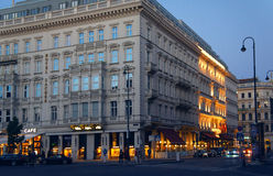 Albertina Square of Vienna by evening Stock Photos