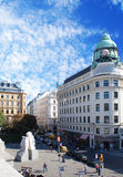 Albertina Square of Vienna at sunny day Royalty Free Stock Photos