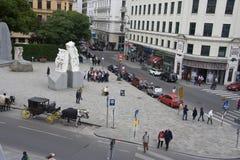Albertinaplatz _Wien 免版税图库摄影