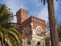 Albertis Castle in Genoa Italy. Castello d Albertis gothic revival castle in Genoa Italy Royalty Free Stock Photos