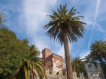 Albertis slott i Genoa Italy Arkivfoton