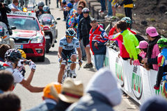 Alberto Contador. In the ninth stage of Giro d'Italia during the ascent of Etna Royalty Free Stock Image