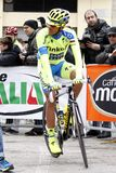 Alberto Contador Team Tinkoff - Saxo Royalty Free Stock Images