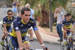 Alberto Contador Tour De France 2013 Royaltyfria Foton