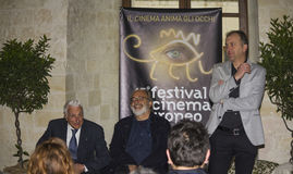 Alberto la monica presents european film festival lecce Royalty Free Stock Images