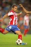 Alberto Lora von sportlichem Gijon Lizenzfreies Stockfoto