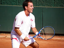 Alberto Martin. Spanish tennis player, Alberto Martin, to serve Royalty Free Stock Images