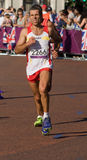 Alberto Suarez Laso en route to win the marathon Royalty Free Stock Images