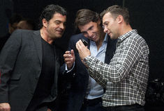 Alberto Tomba, Rafael Nadal und Andriy Shevchenko Lizenzfreie Stockfotos