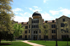Albertson Hall Fort Hays State University. Albertson Hall is one of many limestone buildings on the campus of FHSU. Built in 1928 the observatory houses one of Royalty Free Stock Images