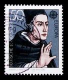 Albertus Magnus Count Bollstadt για 1193-1280, Ευρώπη: Σημαντικές προσωπικότητες serie, circa 1980 Στοκ Εικόνες
