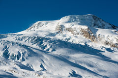 Albhubel mountain peak in Winter Stock Photos