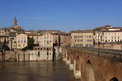 Albi, bridge over the Tarn river, France. Albi, bridge over the Tarn river royalty free stock photo