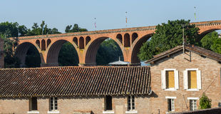 Albi, bridge over the Tarn river Stock Photo