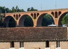 Albi, bridge over the Tarn river Stock Photography