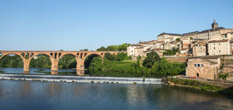 Albi, bridge over the Tarn river Royalty Free Stock Photography