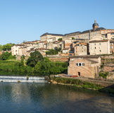 Albi, bridge over the Tarn river Stock Photos