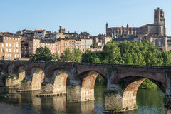 Albi, bridge over the Tarn river Stock Image