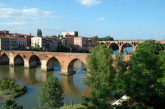 albi bridges france Arkivbild
