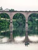 Albi bro över den Tarn floden Royaltyfria Bilder