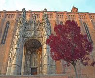 Albi Cathedral. At Sunset in Autumn Stock Images