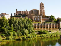 Albi cathedral royalty free stock photography