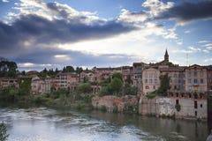 Albi cityscape arkivbilder