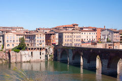 Albi cityscape. View on the Old Bridge in Albi, France Royalty Free Stock Image