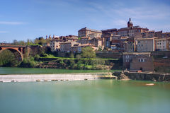 Albi cityscape. View on the Tarn in Albi, France Stock Photos
