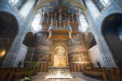 Albi (France), cathedral  interior Royalty Free Stock Images
