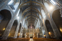 Albi (France), cathedral  interior Royalty Free Stock Photos