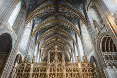 Albi (France), cathedral  interior Royalty Free Stock Photography