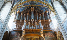 Albi (France), cathedral  interior Stock Photography