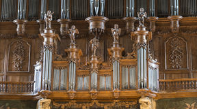 Albi (France), cathedral organ Royalty Free Stock Image