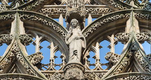 Albi (France), cathedral. Albi (Tarn, Midi-Pyrenees, France) - Exterior of the historic cathedral at morning Stock Photos
