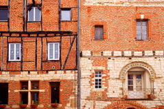albi france houses medeltida Royaltyfria Bilder