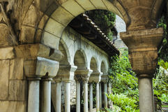 Albi (France). Albi (Tarn, Midi-Pyrenees, France) - Historic cloister with colonnade Royalty Free Stock Images