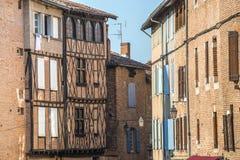 Albi (France). Albi (Tarn, Midi-Pyrenees, France) - Old typical buildings Stock Photos