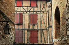 Albi (France). Albi (Tarn, Midi-Pyrenees, France) - Old typical half-timbered building Stock Photos
