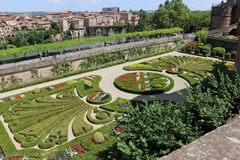 Albi. The garden of the Berbie Palace of Albi, France royalty free stock images