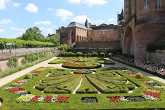 Albi. The garden of the Berbie Palace of Albi, France Royalty Free Stock Photo