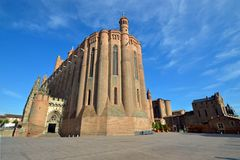 Albi katedra obrazy royalty free