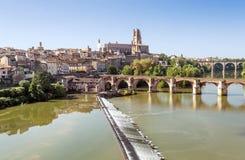 Albi medeltida stad i Frankrike Royaltyfria Foton