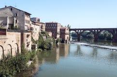 Albi medeltida stad i Frankrike Arkivfoto